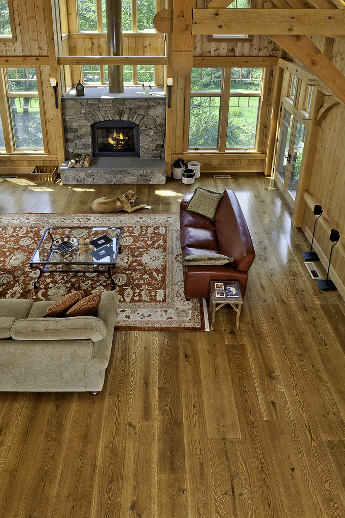Character grade White Oak flooring from Hull Forest Products.