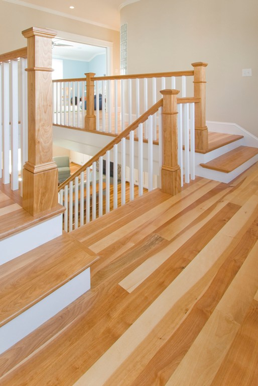 Birch flooring and staircase from Hull Forest Products.