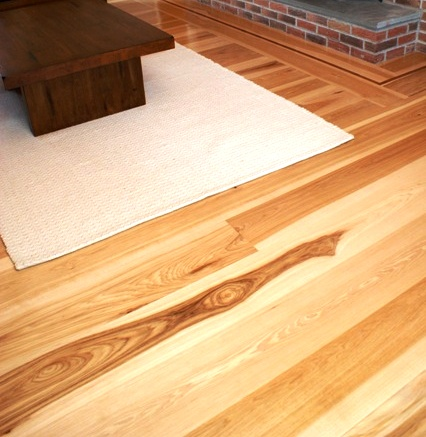 American Hickory wide plank flooring select grade