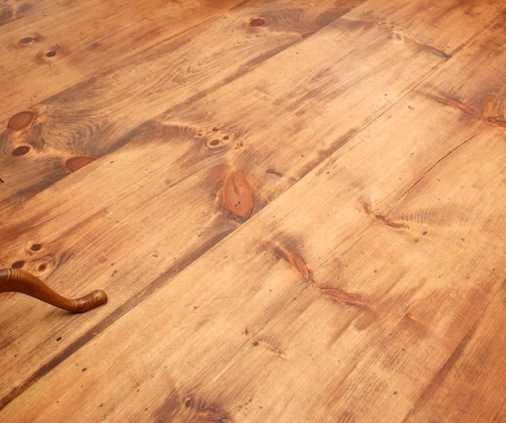 How to get your new wide pine floors to look like old pine.