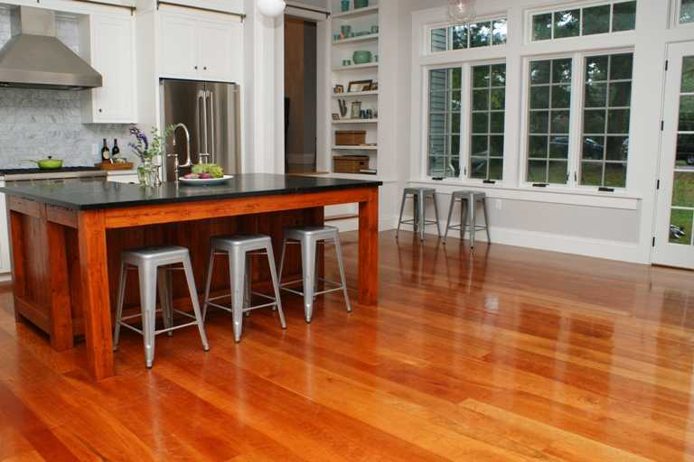 To match your kitchen cabinets how to paint kitchen cabinets - Wood Floors For Kitchens
