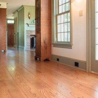 red oak wide plank wood flooring